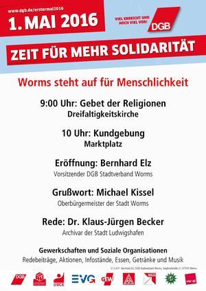 Plakat erster Mai Worms