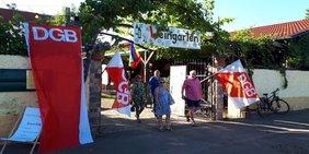 Eingang zum Weingarten Pfingstwiese