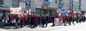 Demozug am 1. Mai in Bad Kreuznach