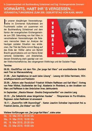 Hinweis zur Marx-Reihe im Pro-Winzkino