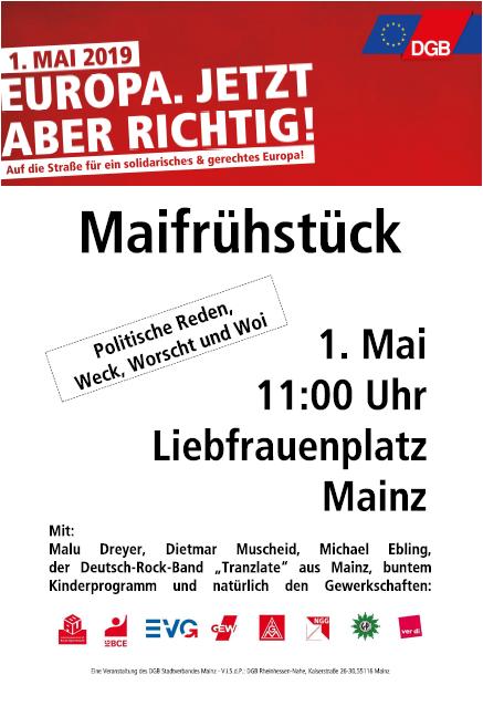 1. Mai 2019 in Mainz